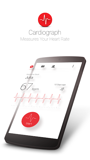 Cardiograph - Heart Rate Meter 4.1.2 screenshots 1