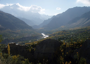 Photo: Hunza Valley with Rakaposhi in late afternoon