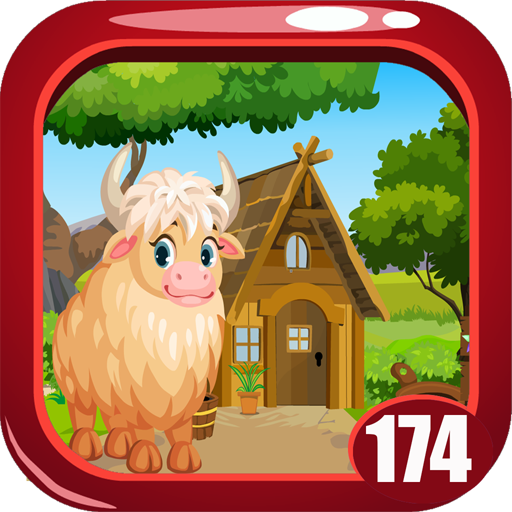 Cute White Yak Rescue Game Kavi - 174