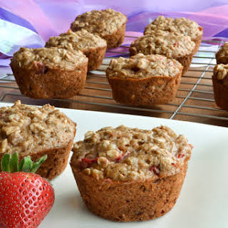 Strawberry Oat and Flax Muffins 12 muffins.