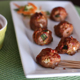 Asian Turkey Meatballs with Chili Garlic Glaze.