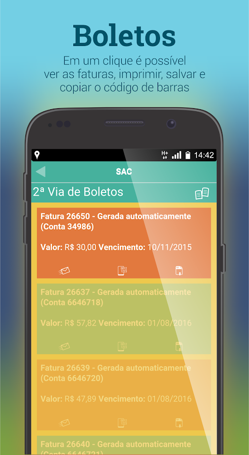 Netell Mobile: captura de tela