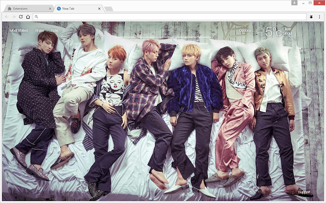 Bts Bangtan Boys Wallpapers Hd New Tab