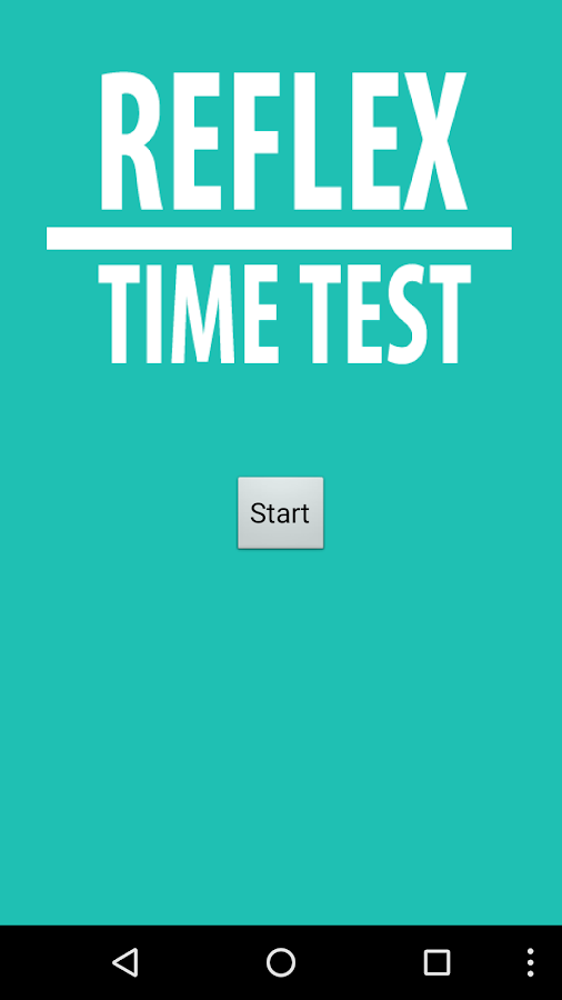 Reflex Time Test- screenshot