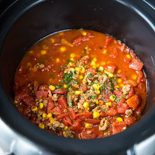 Slow Cooker Spicy Turkey Chili.