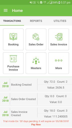Zentrade - Order Booking/Inventory/GST Billing App 1.92 screenshots 2