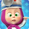 Masha and the Bear: Free Animal Games for Kids icon