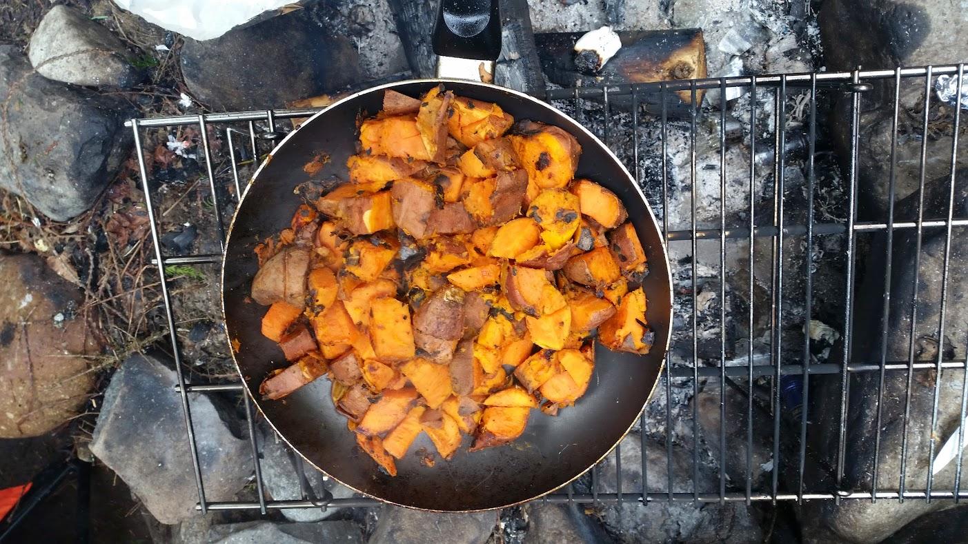 sweet potatoes cooking