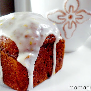 Pumpkin Spice Mini Cakes with Orange-Maple Glaze