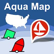Aqua Map USA Marine GPS  Icon