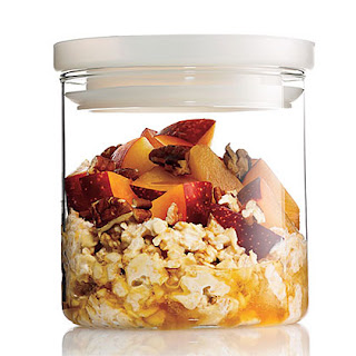 Overnight Oats With Stone Fruit.