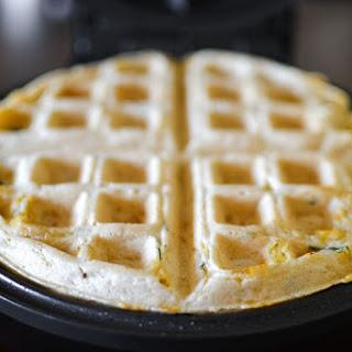 Cheddar & Chive Savory Waffles.