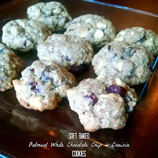 Soft Baked Oatmeal White Chocolate Chip & Craisin Cookies