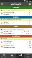 Screenshot of Resultat.dk - sportsresultater
