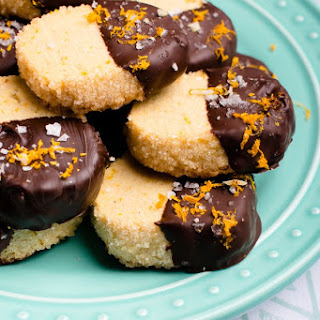 Salted Dark Chocolate Orange Cookies.