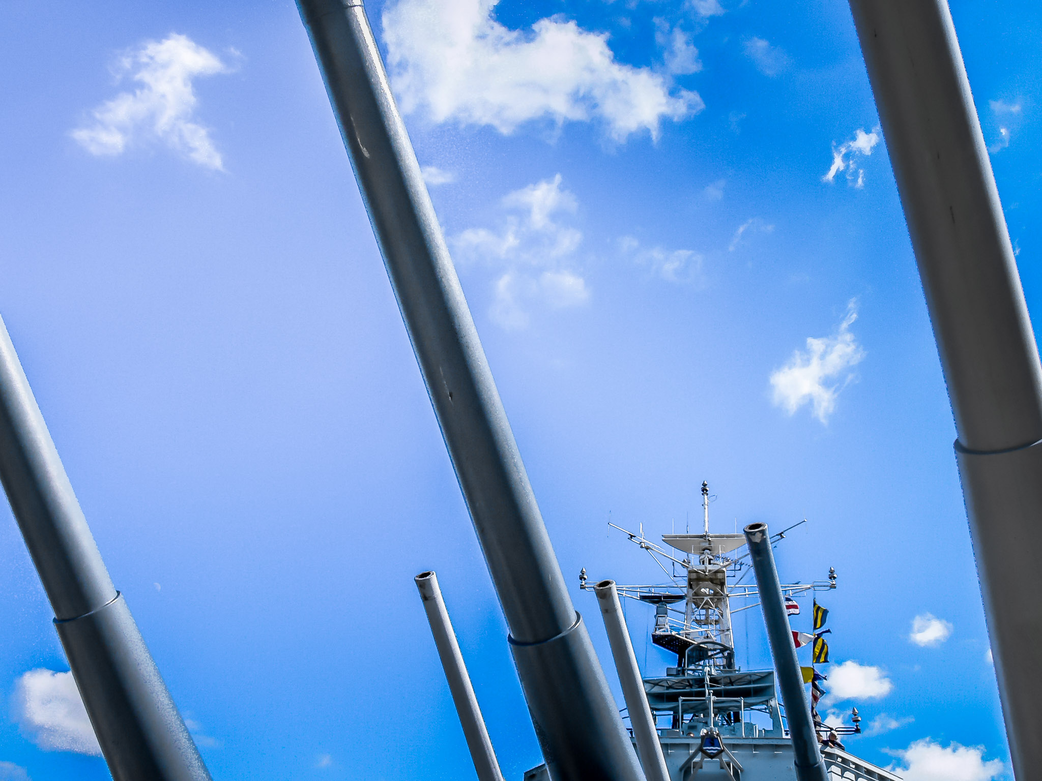 Photo: Belfast Guns HMS Belfast, that is.  On a warm, clear day in May 2004 we visited the permanently docked HMS Belfast in London. I've always liked this view.  Processed using only #Lightroom5  and exported directly as a JPEG.   #Travel   #London   #HMSBelfast