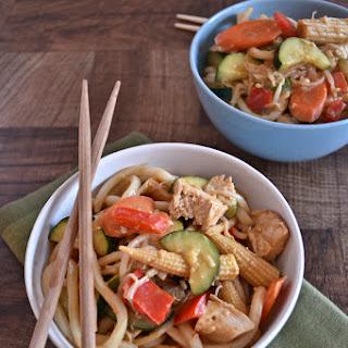 Udon Noodle Wok with Peanut Sauce