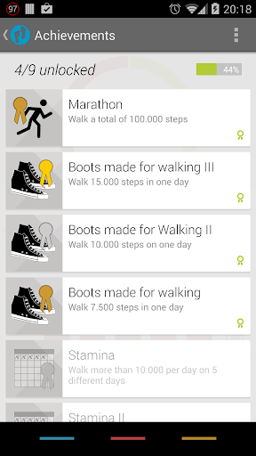 Pedometer screenshot 2