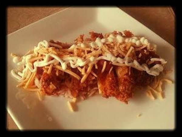 Easy Dorito Crusted Taco Chicken Over Mexican Rice Recipe