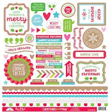 Doodlebug Cardstock Stickers 12X12 - Christmas Town This & That