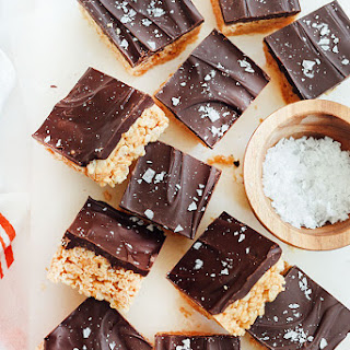 Salted Chocolate Peanut Butter Krispie Treats
