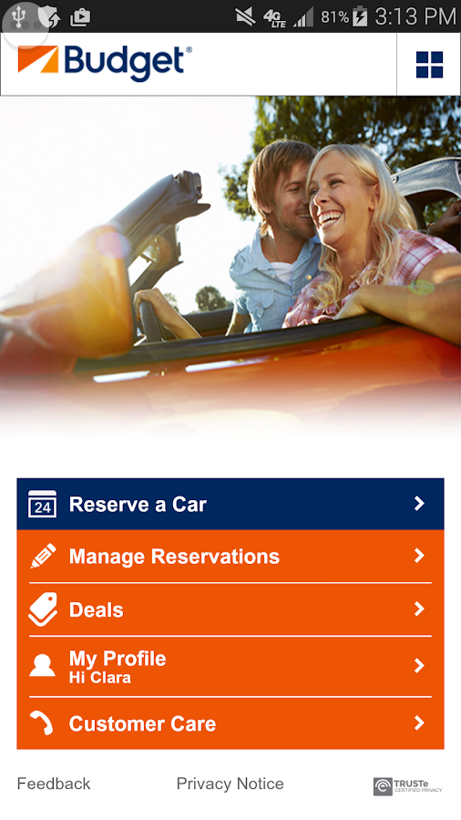 Budget Car Rental - screenshot