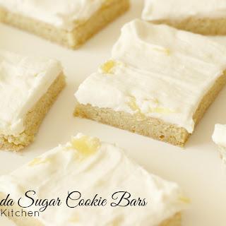 Pina Colada Sugar Cookie Bars