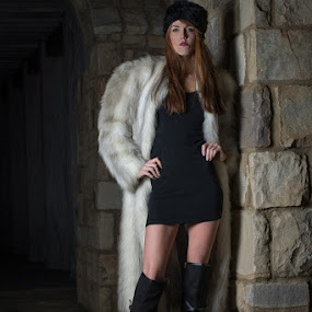 Moscow Marrah-2 by Jeff Dugan - People Fashion ( faux fur, urban, night photography, charlotte, winter fashion, north carolina )