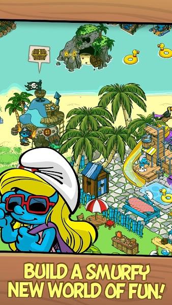 Smurfs' Village v1.48.0 (Mod Gold/Smurf Berry/Resource)