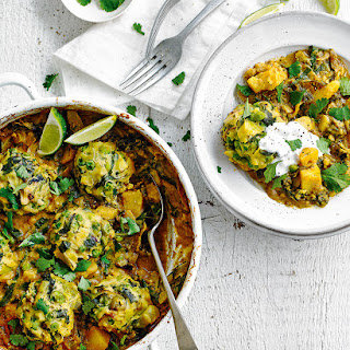 Leek And Pea Dumpling Curry.