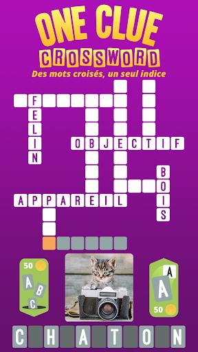 Code Triche One Clue Crossword APK MOD screenshots 1