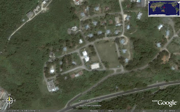 Photo: Google Earth satellite photo Navy Hill Saipan Lighthouse located NW of center