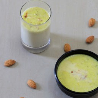 Badam Milk Recipe Homemade