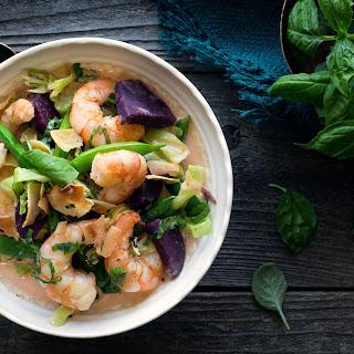 Shrimp Coconut Curry With Purple Sweet Potato