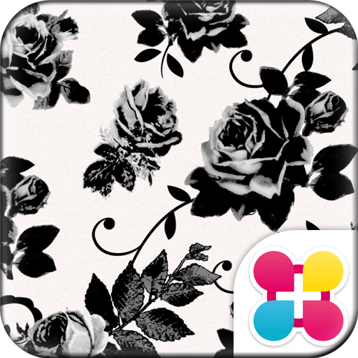Chic Wallpaper Black Rose Icon