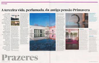 Photo: O fugas do Jornal Público visitou o Primavera Perfume Hotel e descreveu a sua experiencia nas duas páginas que lhe dedicou na sua edição de 4 de Fevereiro.