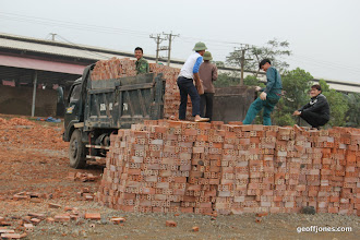 Photo: The brick factory - look at their spontanous smiles