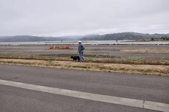 Photo: walking the dog