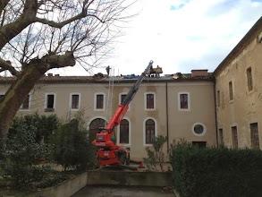 Photo: Réfection toiture - anciens dortoirs (espace atelier Goubely) - janv 2014