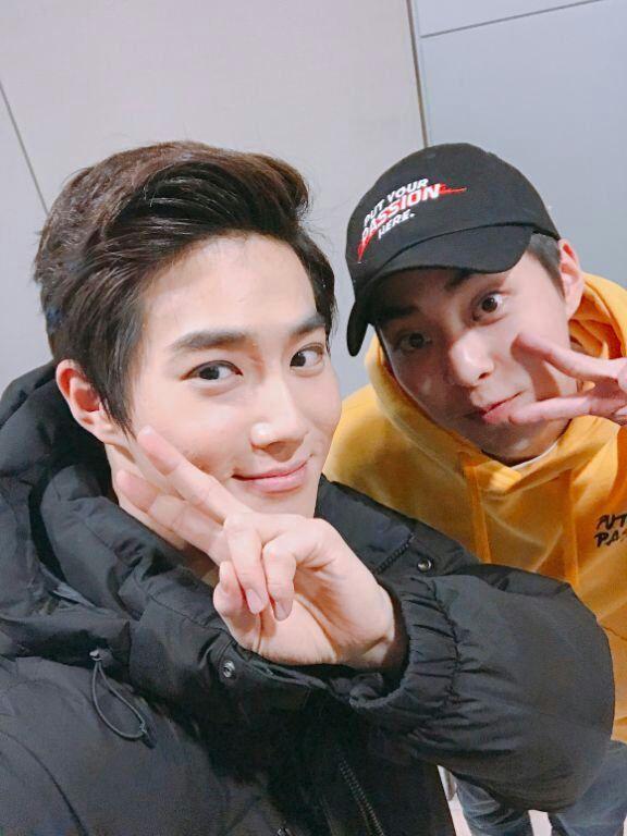exo suho and xiumin