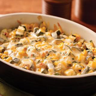 Creamy Corn, Zucchini & Chipotle Bake