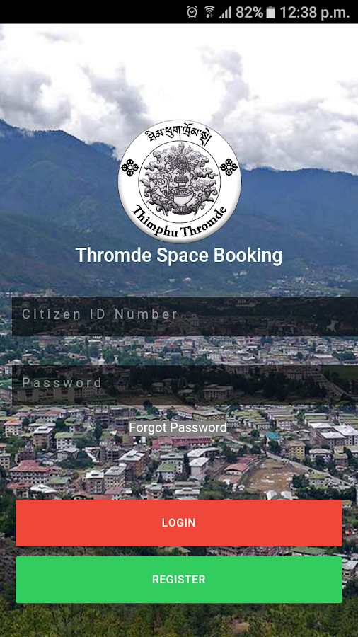 Thromde Space Booking- screenshot
