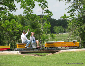 Photo: Pete Green training Donna Green on UP 9449.  HALS-SLWS 2009-0522