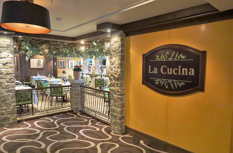 Head to the specialty restaurant La Cucina for Italian fare on Norwegian Getaway.