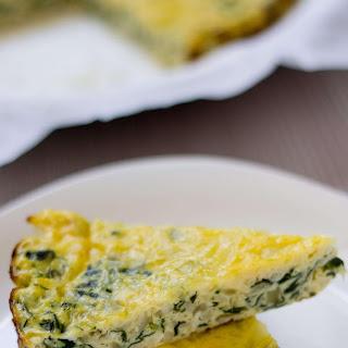 Spinach and Zucchini Crustless Quiche.