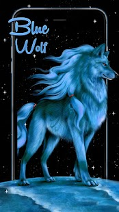 Blue Wolf Live Wallpaper - náhled