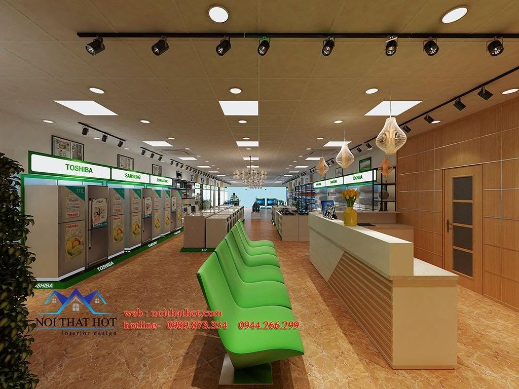 thiết kế siêu thị điện máy thân thiện