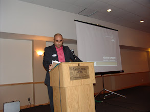 Photo: Georges Maamari introduced the guests for the evening