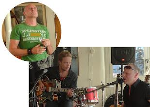 Photo: Martin Abrahamsson med  t.v. Joakim Barchéus, t.h. Tommy Moberg, båda i Trickbag  torsdag 28 juni 2012  S/S Marieholm, Göteborg
