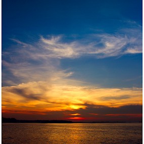 Sunset @ Pungol by Arunkumar Boyidapu - Landscapes Sunsets & Sunrises ( orange, blue, sunset, singapore, golden hour )
